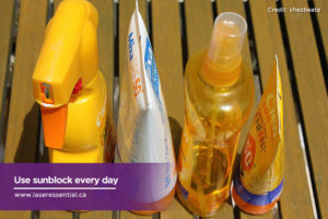 Use sunblock every day