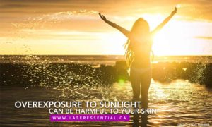 Overexposure to sunlight can be harmful to your skin