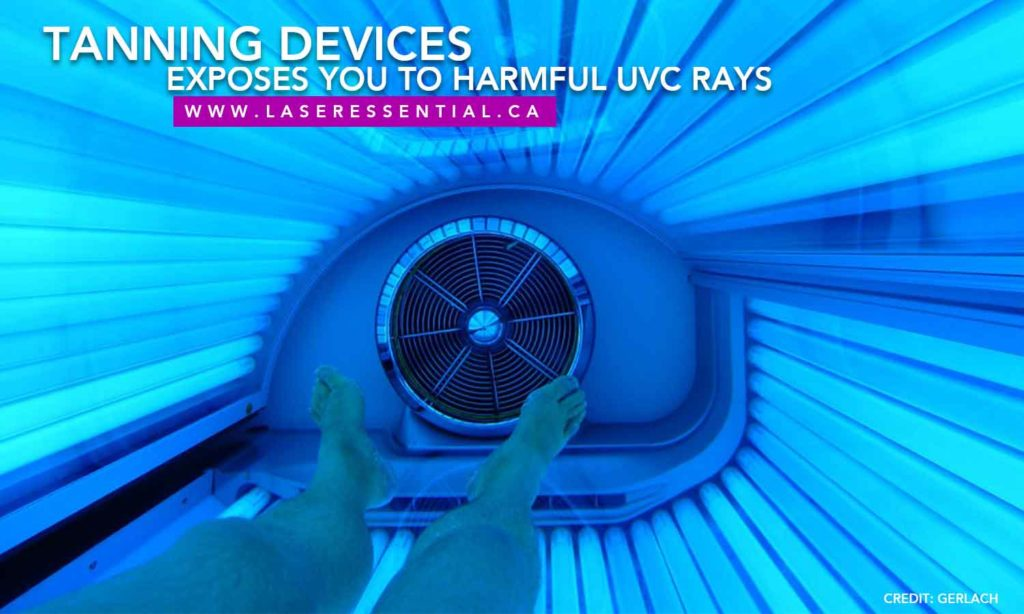 Tanning devices exposes you to harmful UVC rays